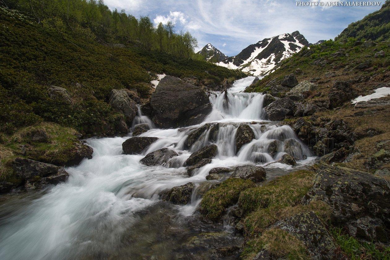 горы, предгорья,река,горная река,ручей, хребет, вершины, пики, озеро, лёд,отражение,снег,скалы, холмы, долина, облака, путешествия, туризм, карачаево-черкесия, кабардино-балкария, северный кавказ, АрсенАл