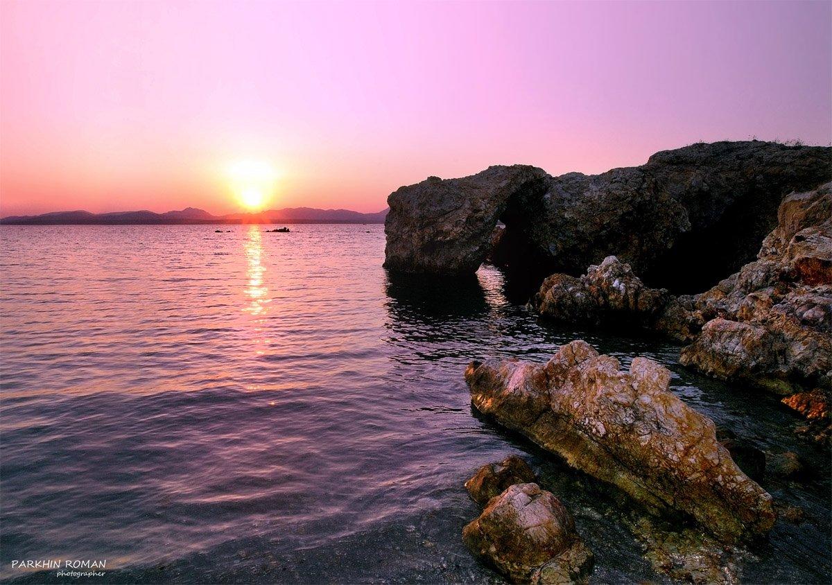 greece, limnos, sunset, evening, вечер, закат, Parkhin Roman