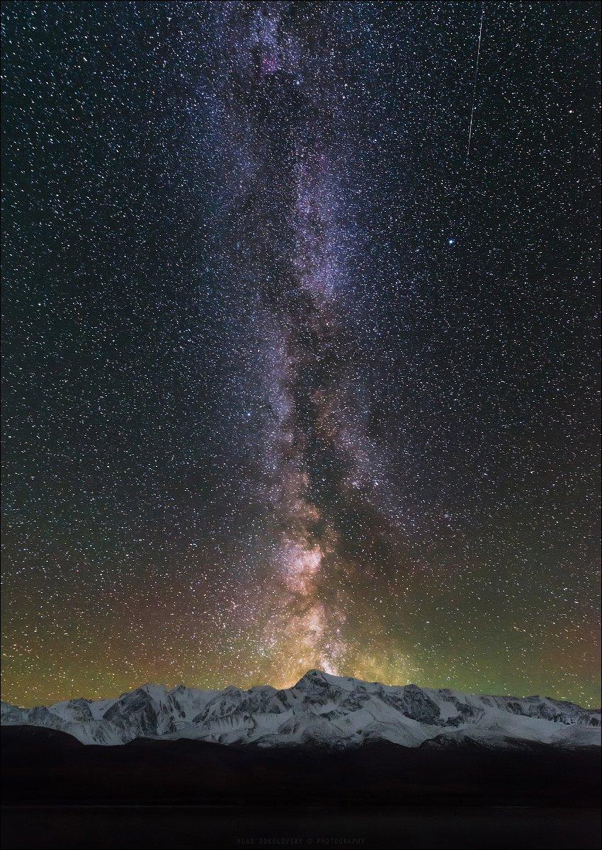 Алтай, Северо-Чуйский хребет, Ештыкель, Джангысколь, Млечный Путь, Milky Way, Влад Соколовский