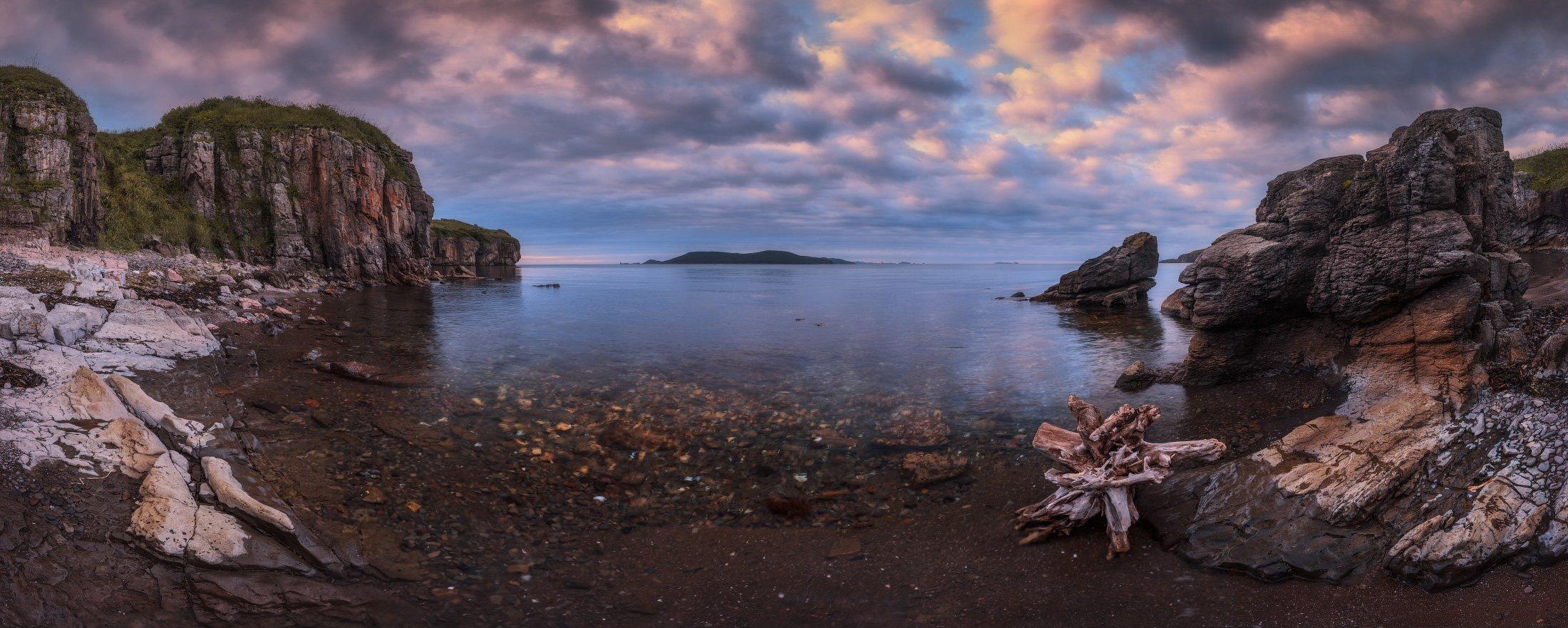 панорама, море, скалы, Андрей Кровлин
