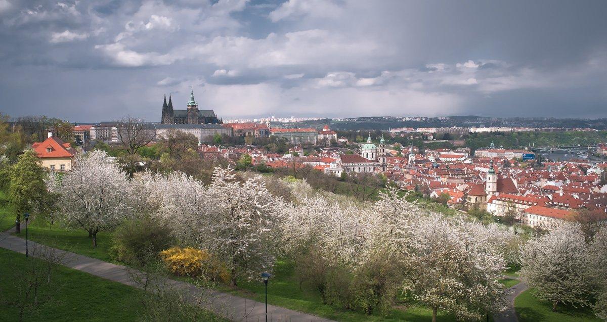чехия,прага,весна,панорама, Ravilin