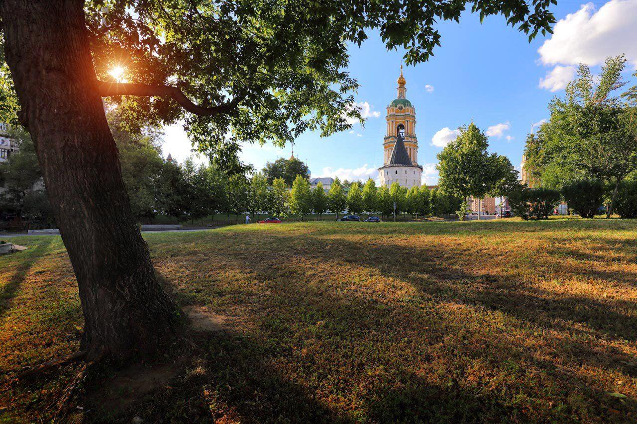 новоспасский монастырь, москва, солнце, Виктор Климкин