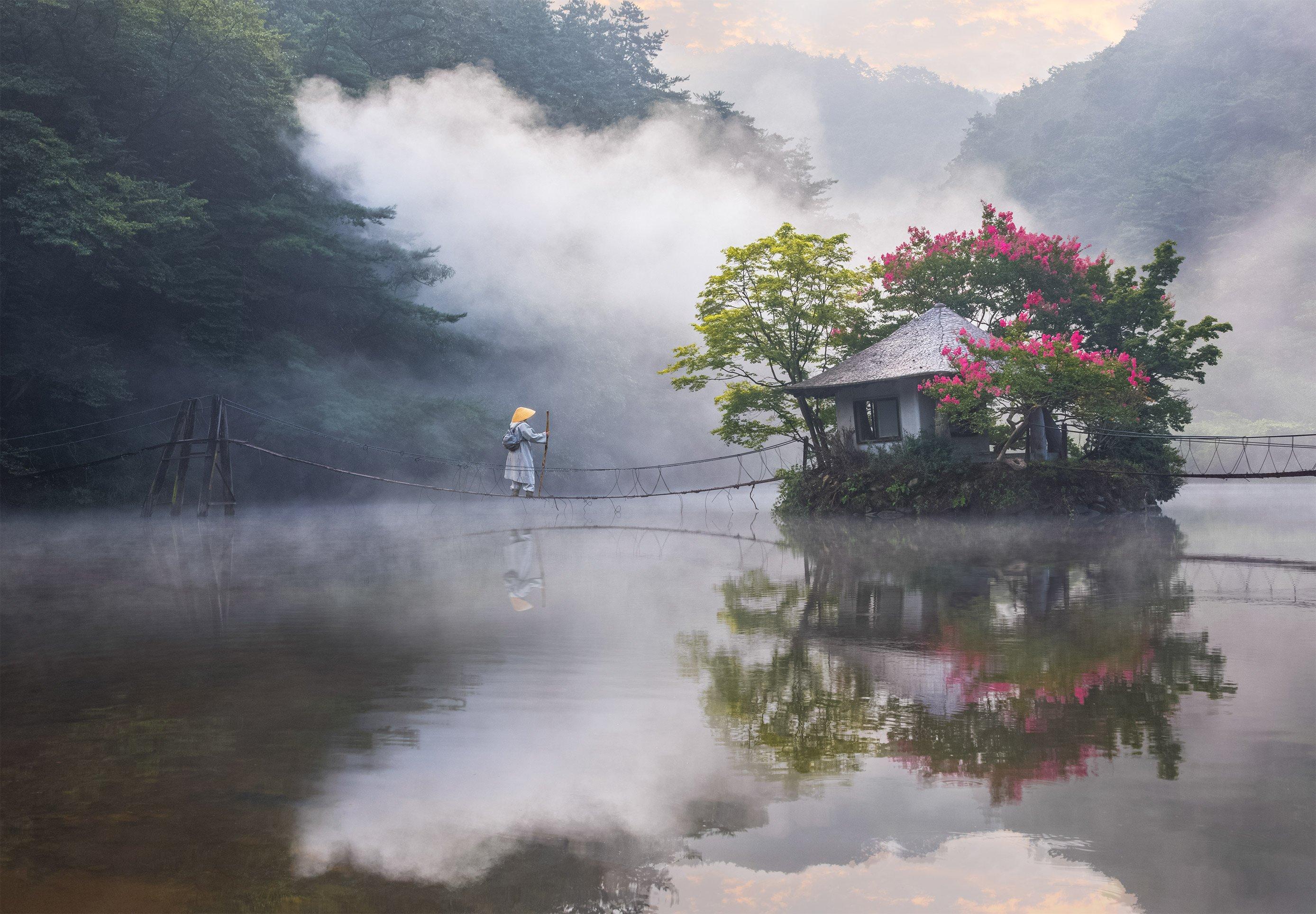 reflection, misty, oriental, magic, fairytale, wizard, korea, 류재윤