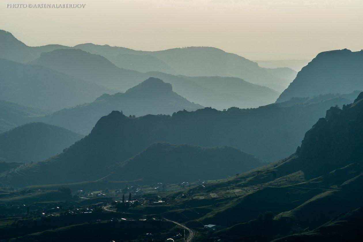 горы, предгорья, хребет, вершины, пики, восход, солнечный свет, скалы, холмы, долина, облака, путешествия, туризм, карачаево-черкесия, кабардино-балкария, северный кавказз , закат, свет, лучи, АрсенАл