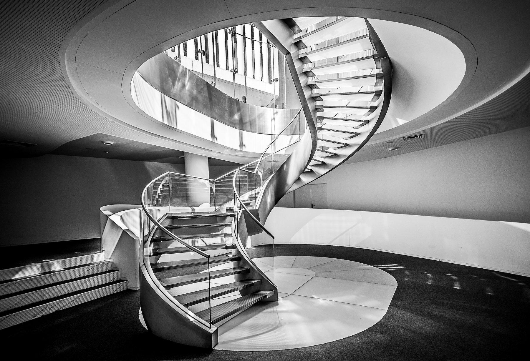 architecture, art, stairs, glass, Antonio Bernardino