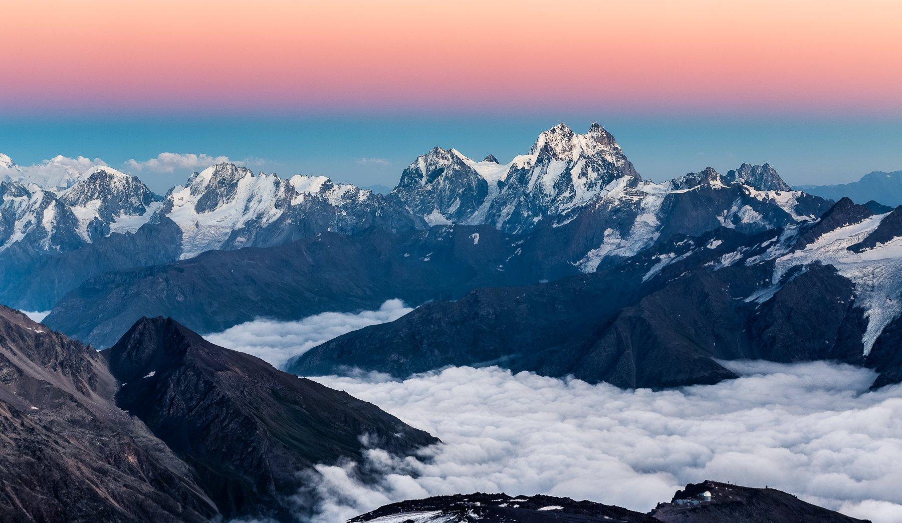 пейзаж, путешествия, горы, кавказ, закат, travel, landscape, Алексей Самойленко