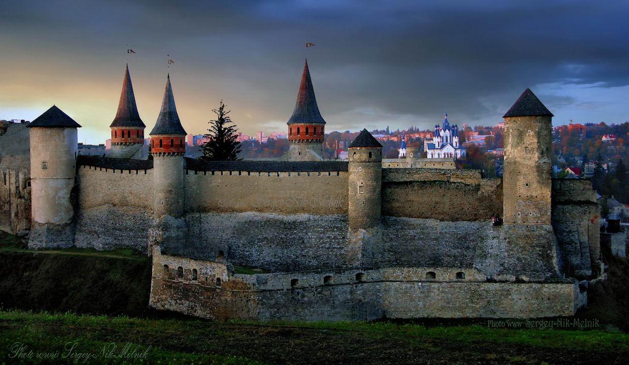каменец-подольский, замок, крепость, украина, закат, вечер, Sergey-Nik-Melnik.by