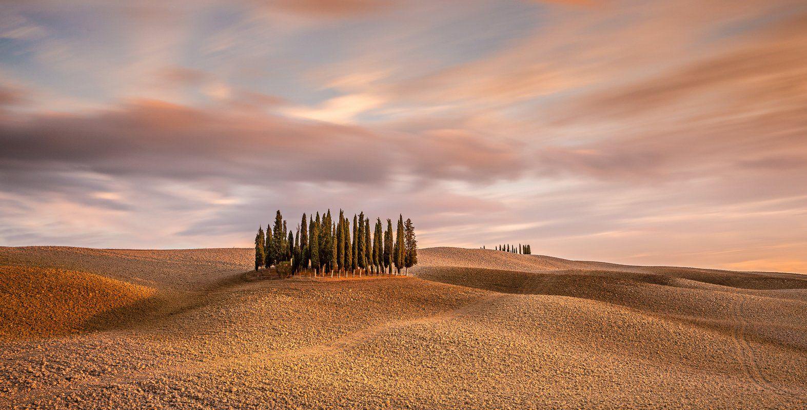 Tuscany, Sunset, Sunrise, Longexposure, Ryszard Lomnicki