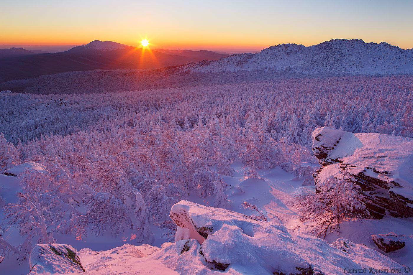 зима, южный урал, таганай, Сергей Карпухин