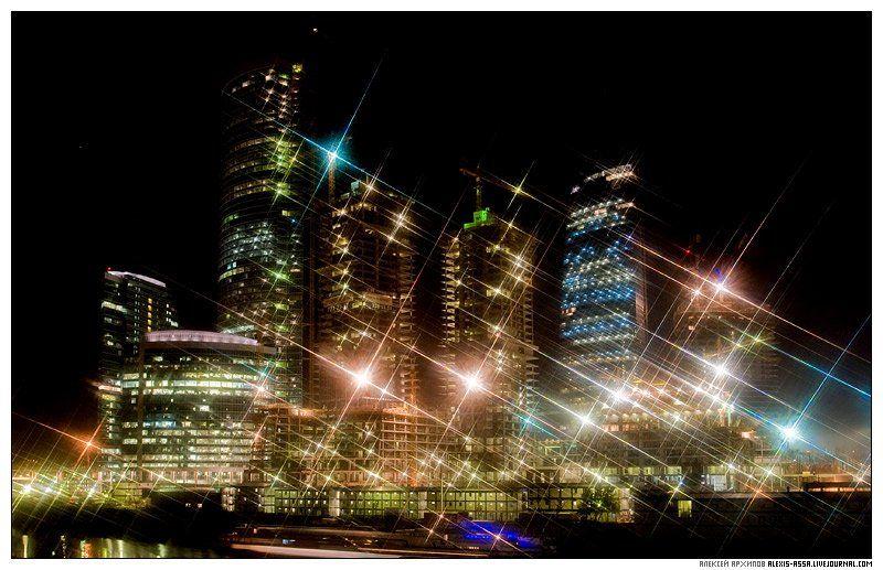 москва, сити, федерация, небоскреб, ночь, Алексей Архипов