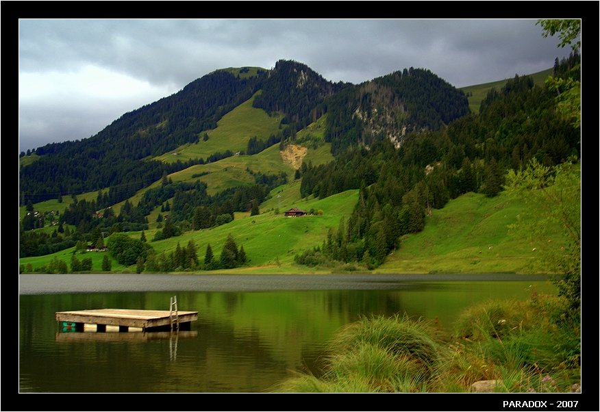 швейцария, schwarzsee, fribourg, черное озеро, цвета, paradox, PARADOX