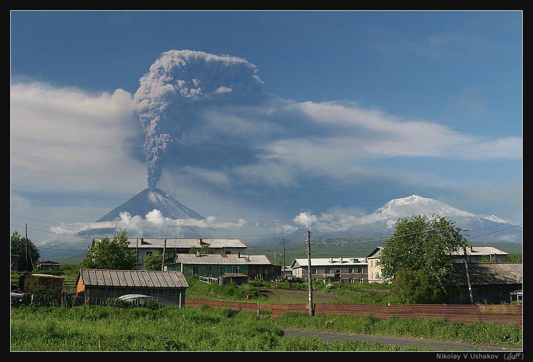 камчатка, извержение, вулкан, ключевской, июнь, 2007, Николай Ушаков (Graff)