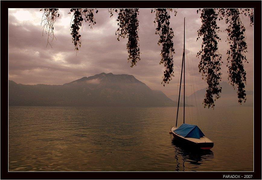 швейцария,веггис,weggis,озеро,лодка,конец лета,paradox, PARADOX