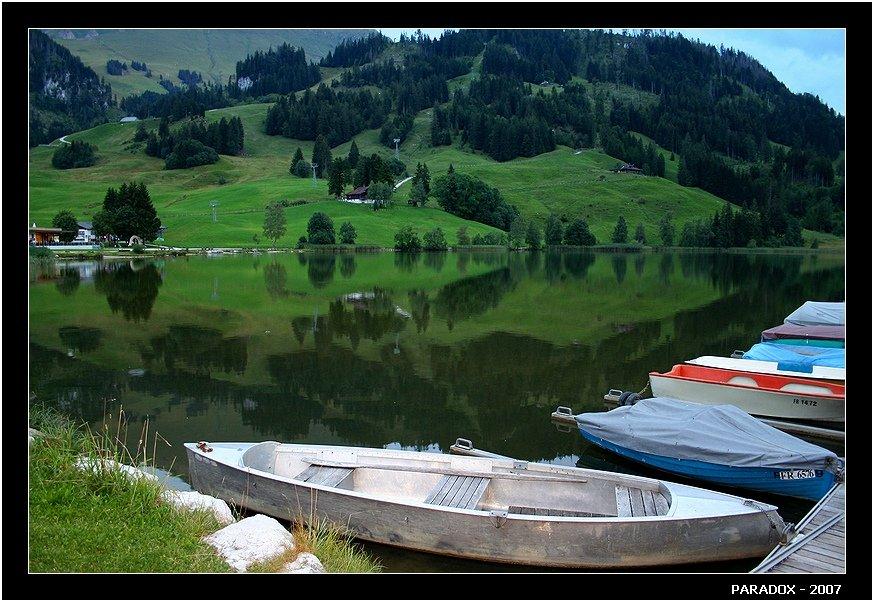 швейцария, schwarzsee, fribourg, черное озеро, отражения, paradox, PARADOX