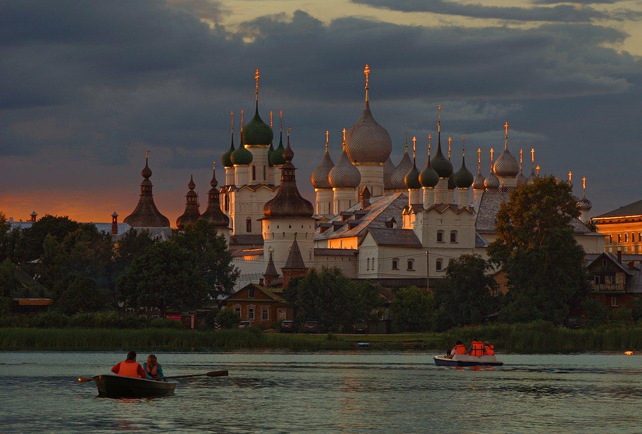 ростовский, кремль, неро, закат, озеро, Петр Косых