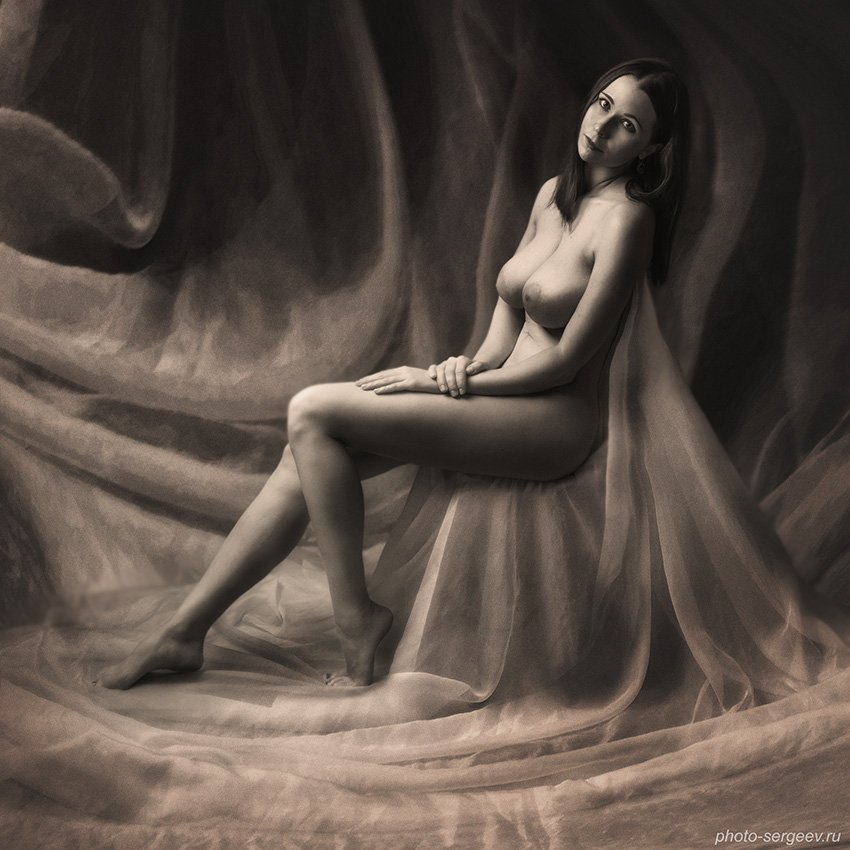 девушка, обнажённая, натурщица, классика, портрет, Сергеев Александр