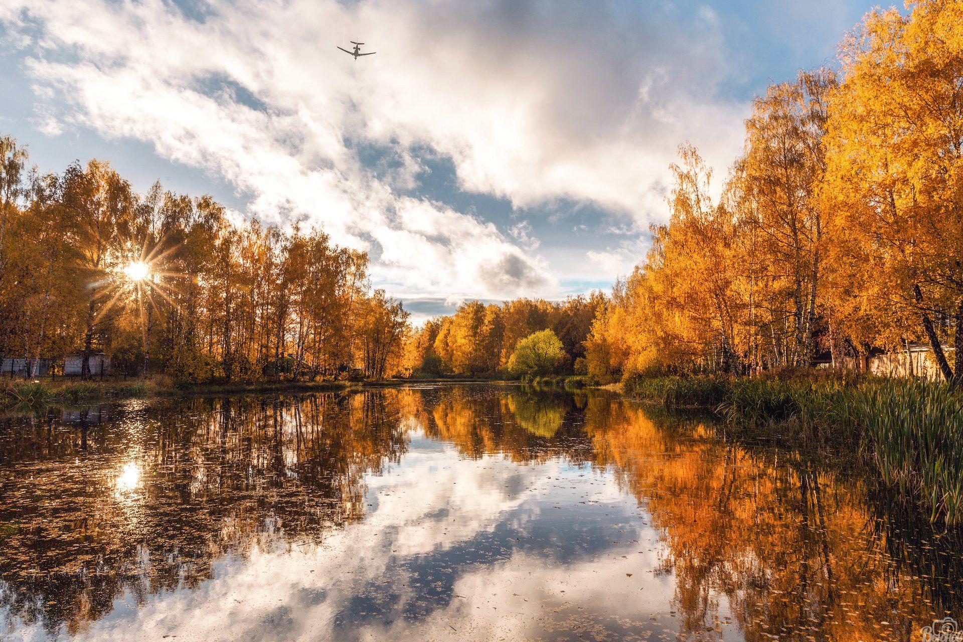 шереметьевский пруд,долгопрудный,московская область,подмосковье,осень, Вьюнов Сергей