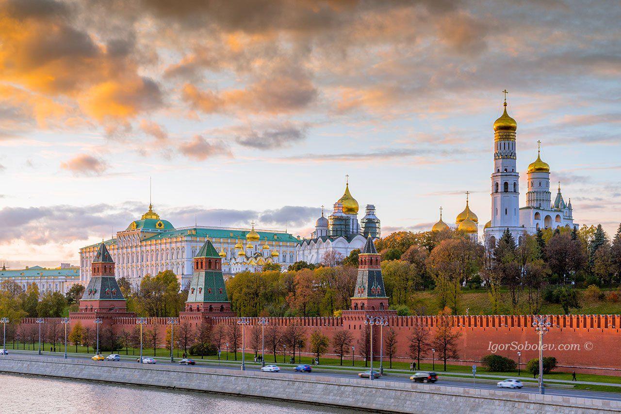 кремль, москва, закат, kremlin, moscow, sunset, igorsobolevcom, Соболев Игорь