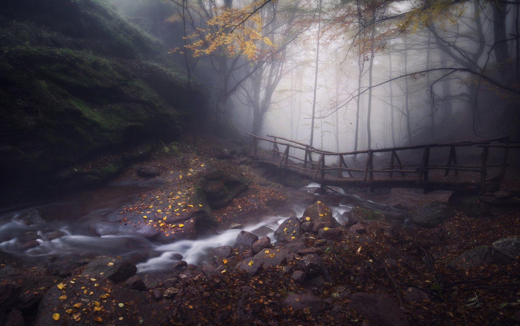 пейзаж, природа, landscape, nature, waterfalls, autumn, Genadi Dochev