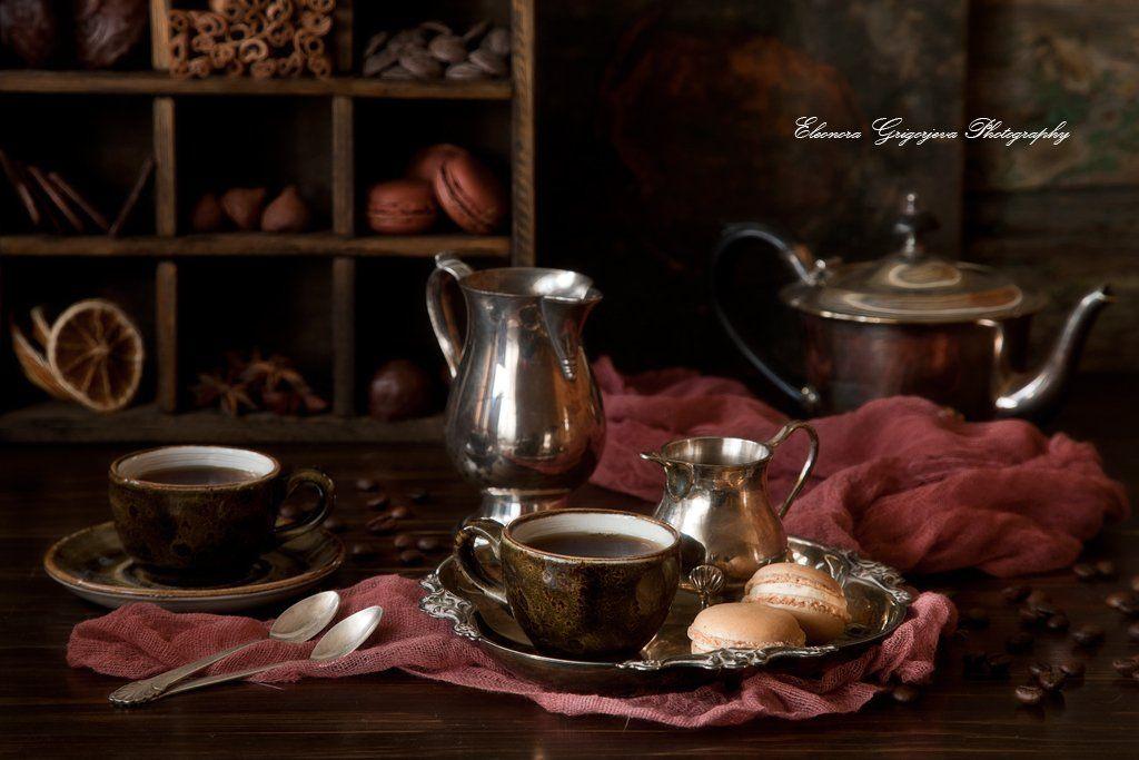 кофе, шоколад, сладости, корица, анис, конфеты, Eleonora Grigorjeva