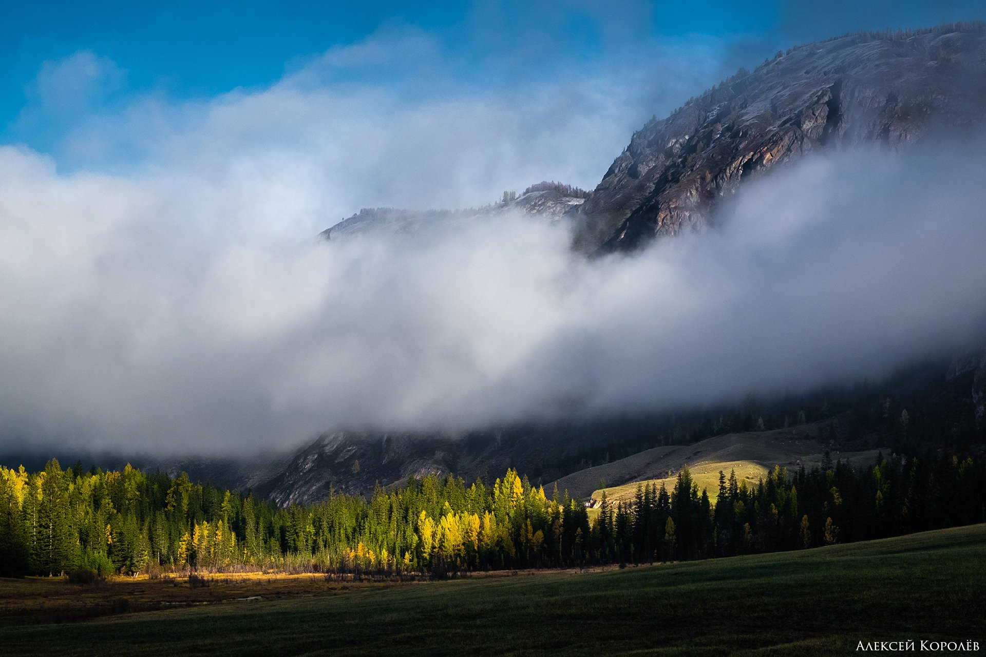 алтай, горы, восход, осень, пейзаж, природа, Алексей Королёв