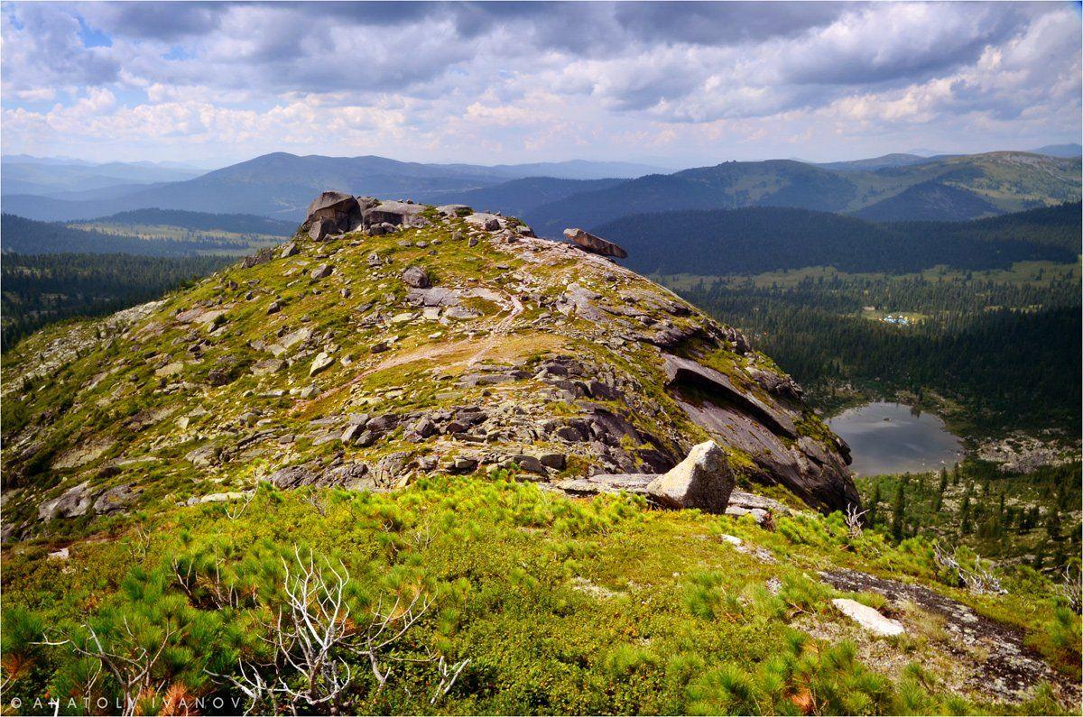 ергаки, западные саяны, озеро радужное, висячий камень, Иванов Анатолий