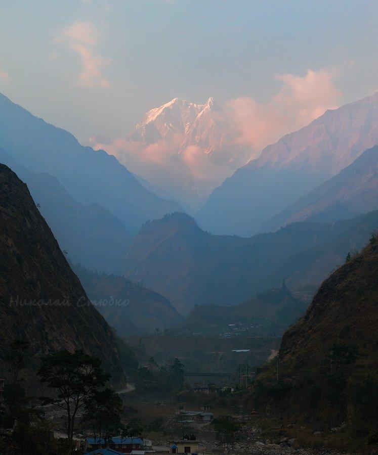 гималаи горы непал нилгири закат, Николай Стюбко