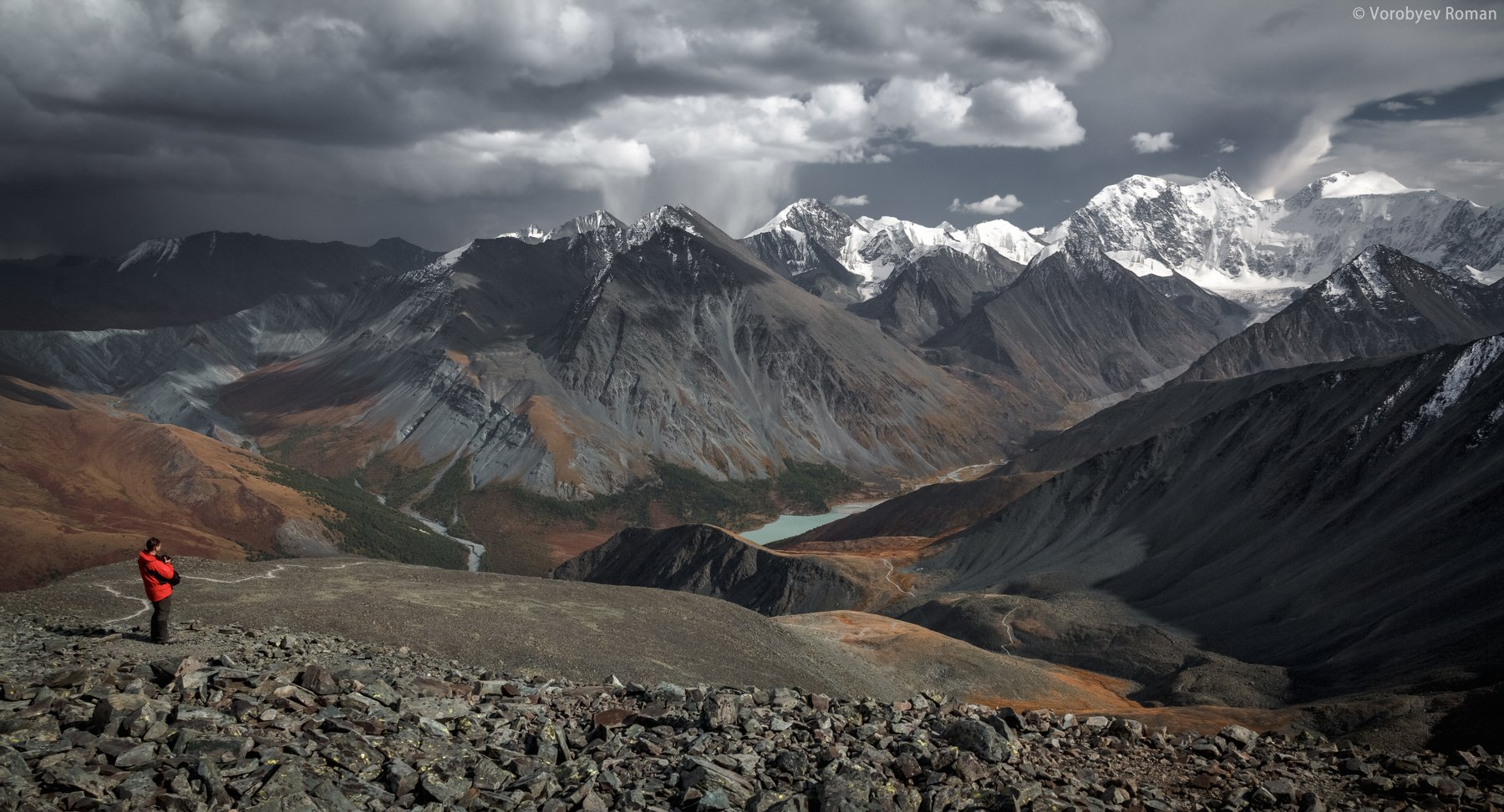 алтай, горы, снег, первый снег, горный алтай, осень, белуха, Roman Vorobyev