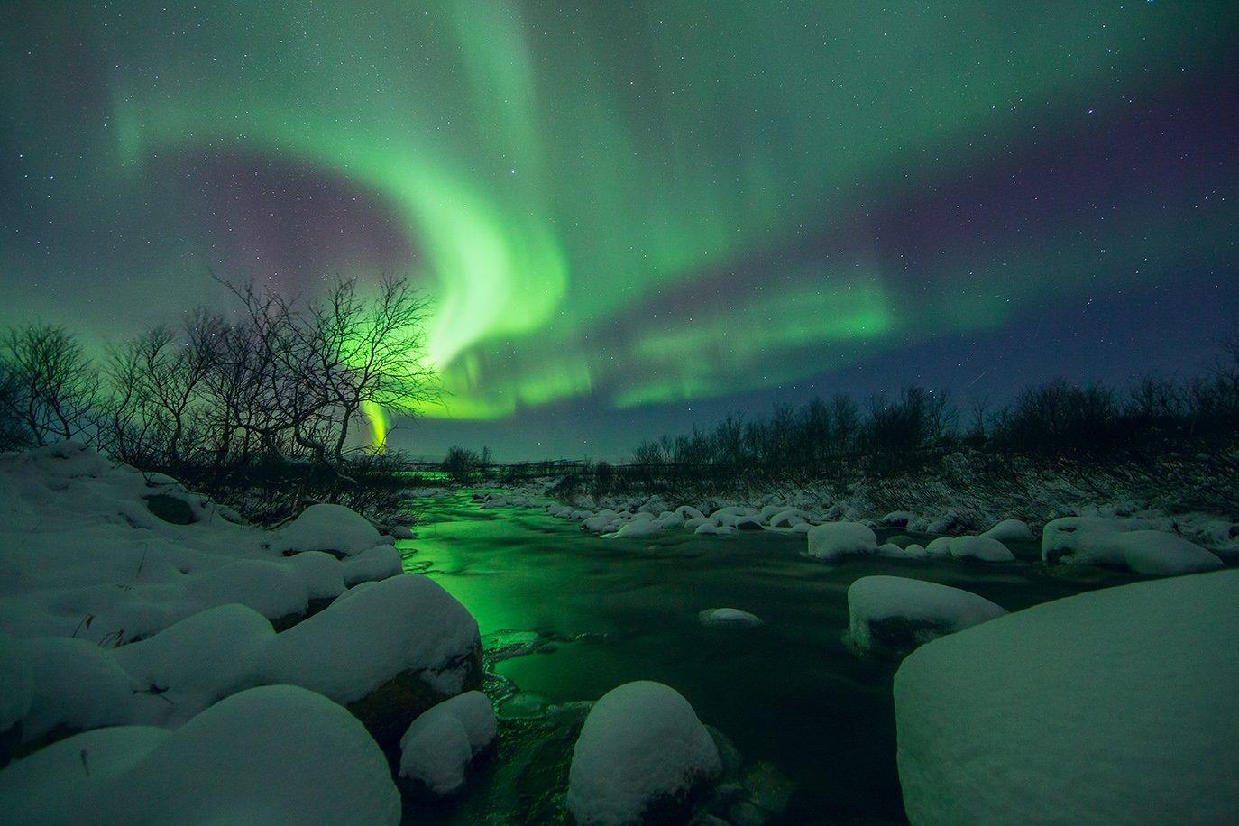 пейзаж, природа, кольский п-ов, полярное сияние, Трифонова Любовь