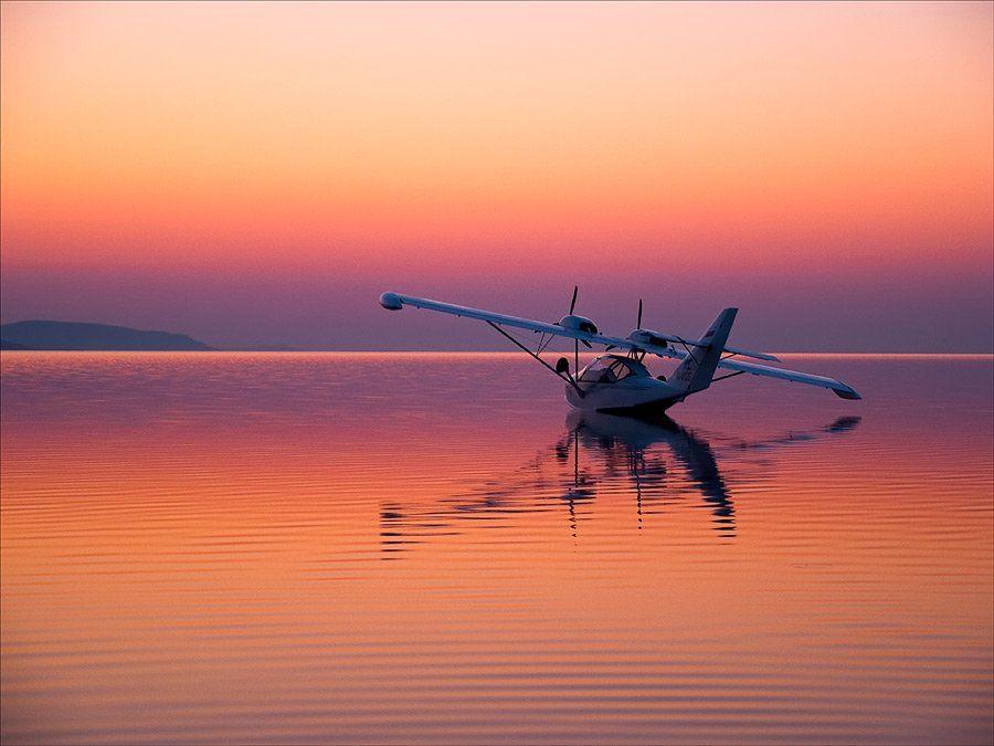 пейзаж, природа, утро, самолет, Евгений Харланов