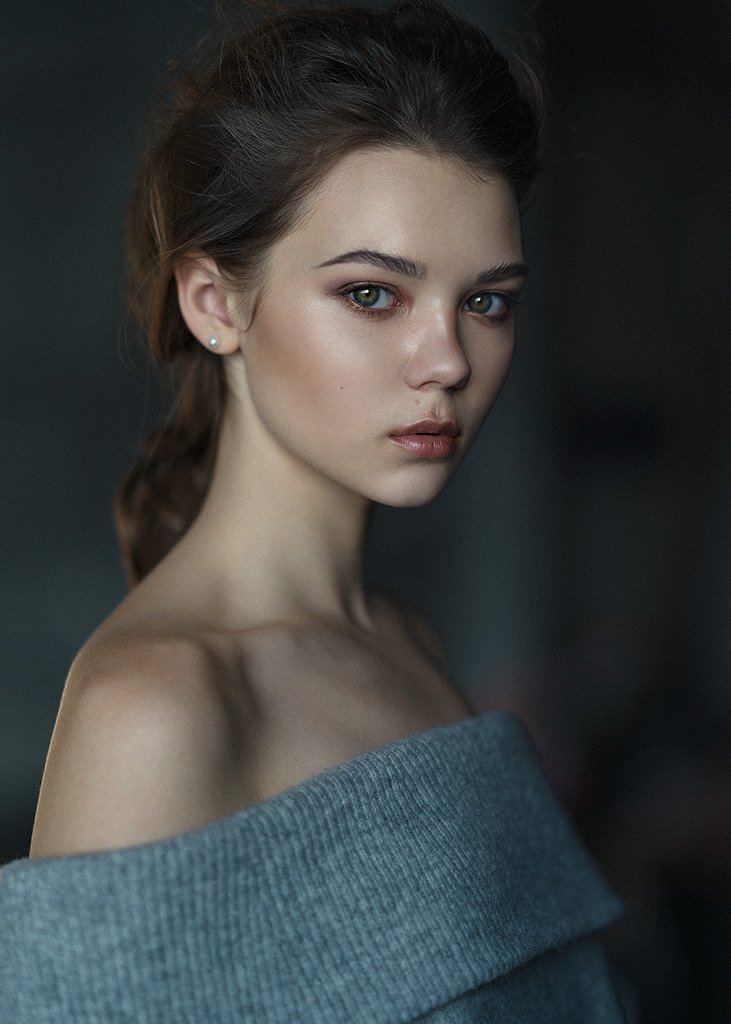 portrait, girl, eyes,, Казанцев Алексей