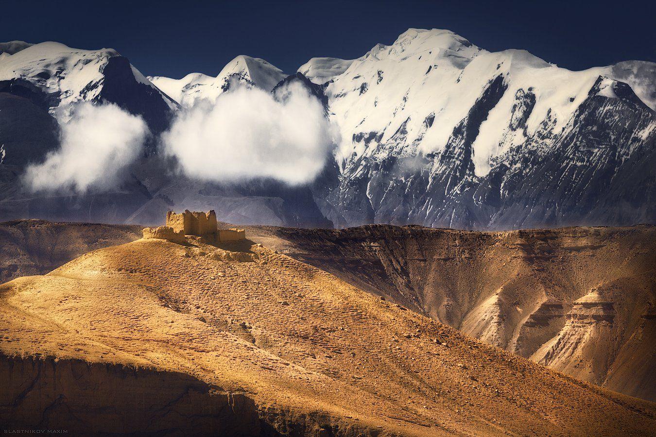 Непал, горы, солнце, высота, пик, снег, песок, дюны, путешествия, облака, пейзаж, крепость, руины, mountains, Nepal, explore, outdoor, snow, peak, sand, wind, sunset, range, himal, Максим Сластников