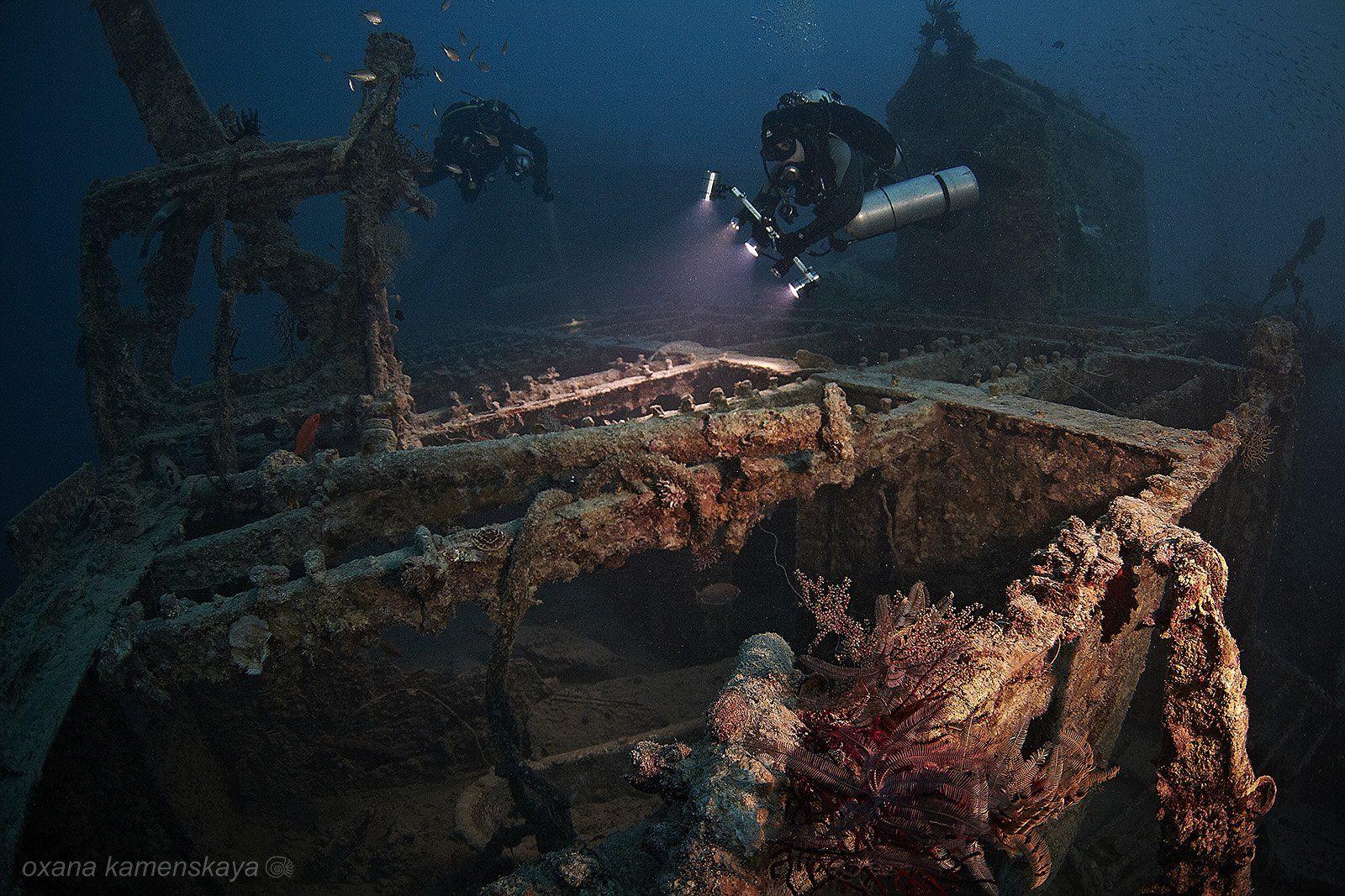 wreck SS Rosalie Moller., Оксана Каменская