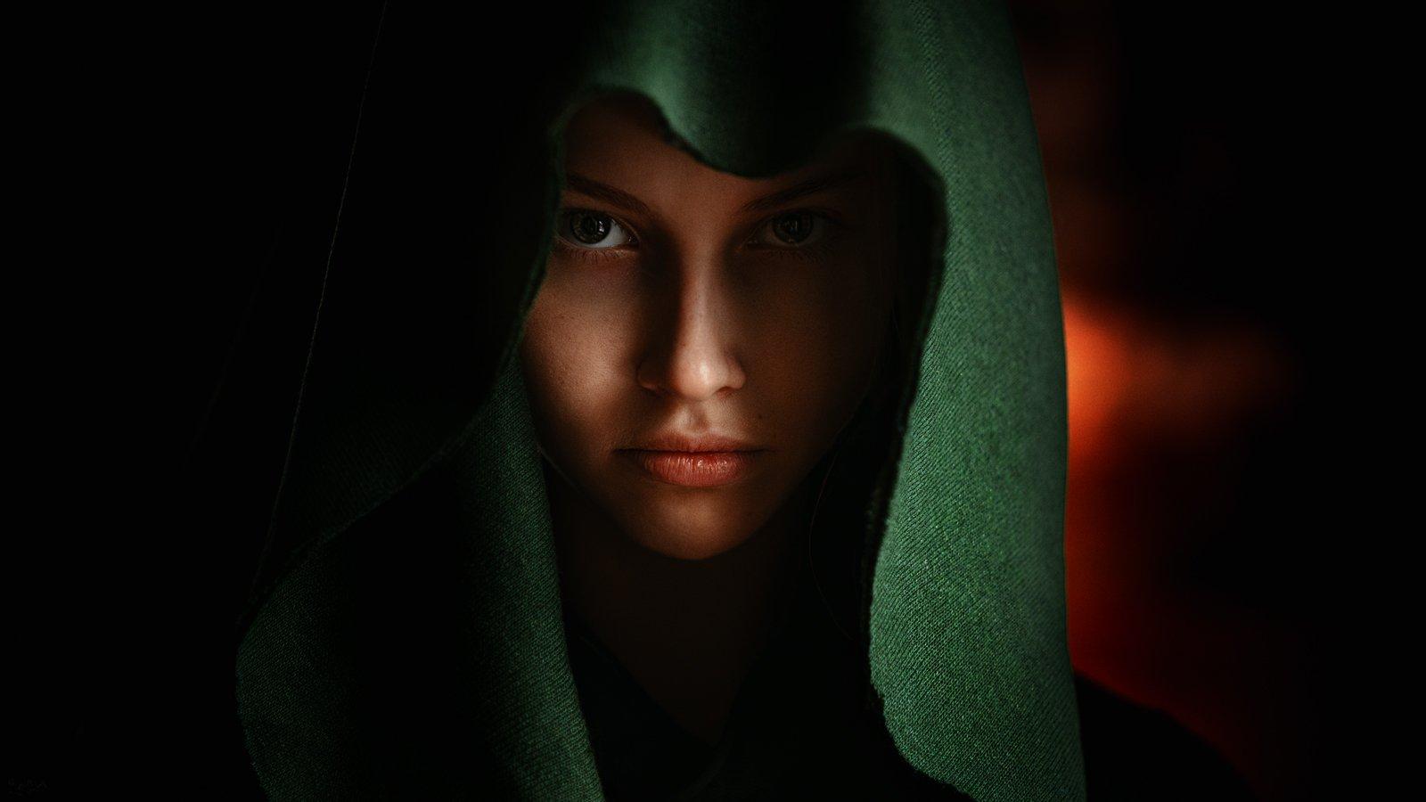 портрет, модель, portrait, model, Георгий Чернядьев
