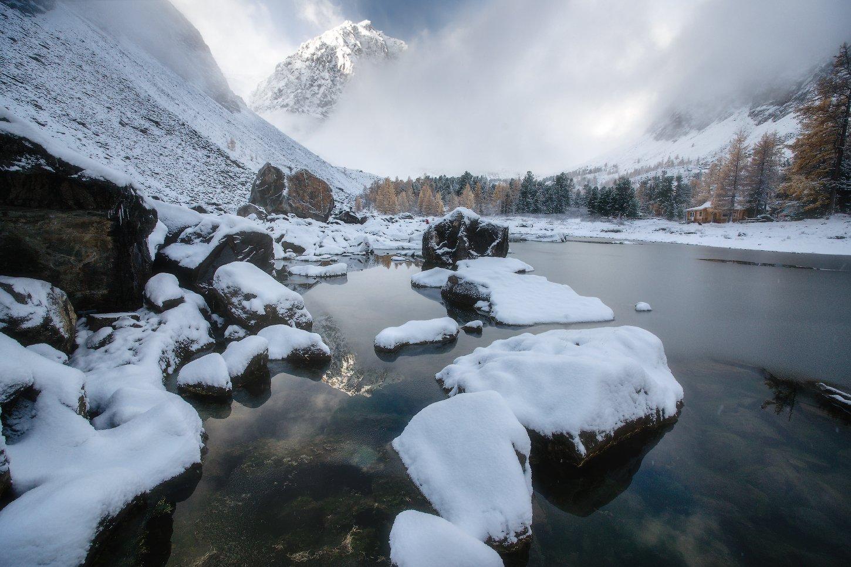 алтай, горы, осень, актру, караташ, зима, Владимир Ляпин