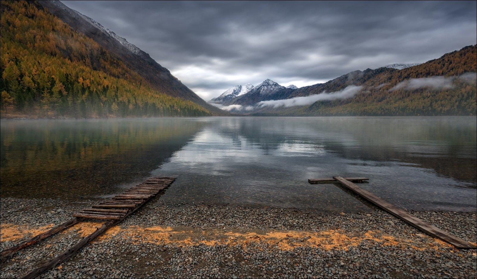 алтай, осень, мульта, нижнее мультинское озеро, тишина, осень, горы, россия, Влад Соколовский