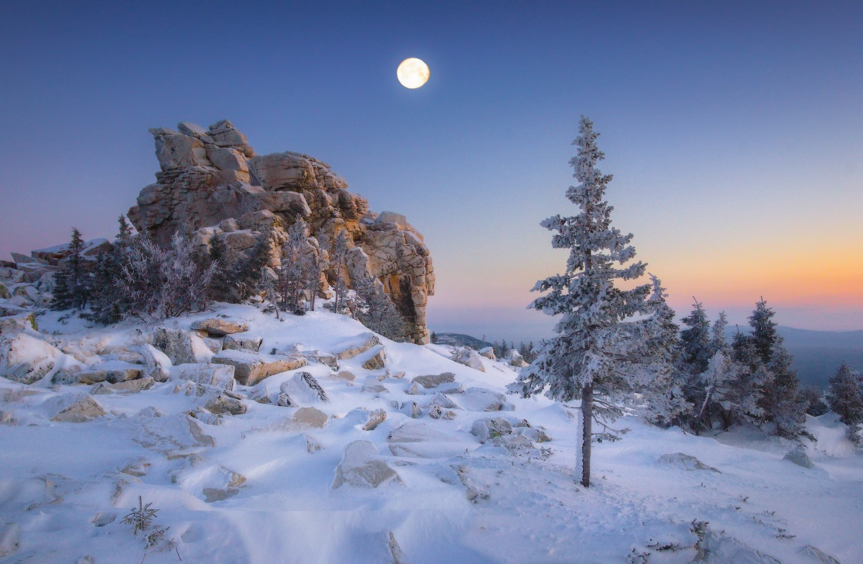 зюраткуль, горы, зима, урал, Владимир Ляпин