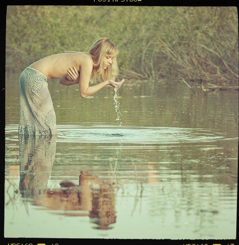 девушка, озеро, вода, пленка, готово, Владимир Зотов