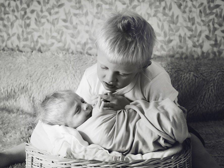 брат, семья, новорожденный, домашняя, фотосъемка, Макарова Елена