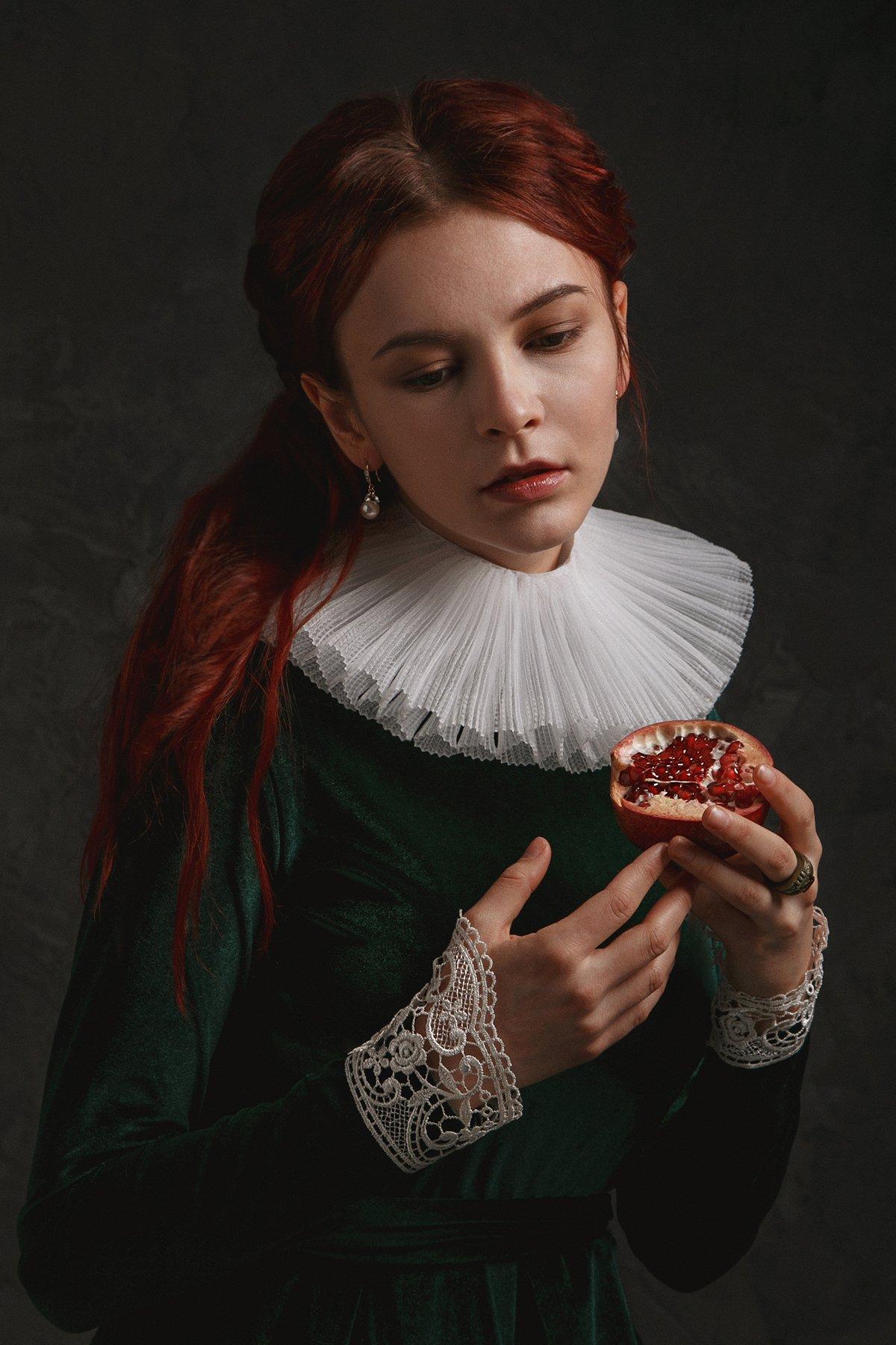 vanitas, гранат, девушка, рыжие волосы, Юлия Дурова