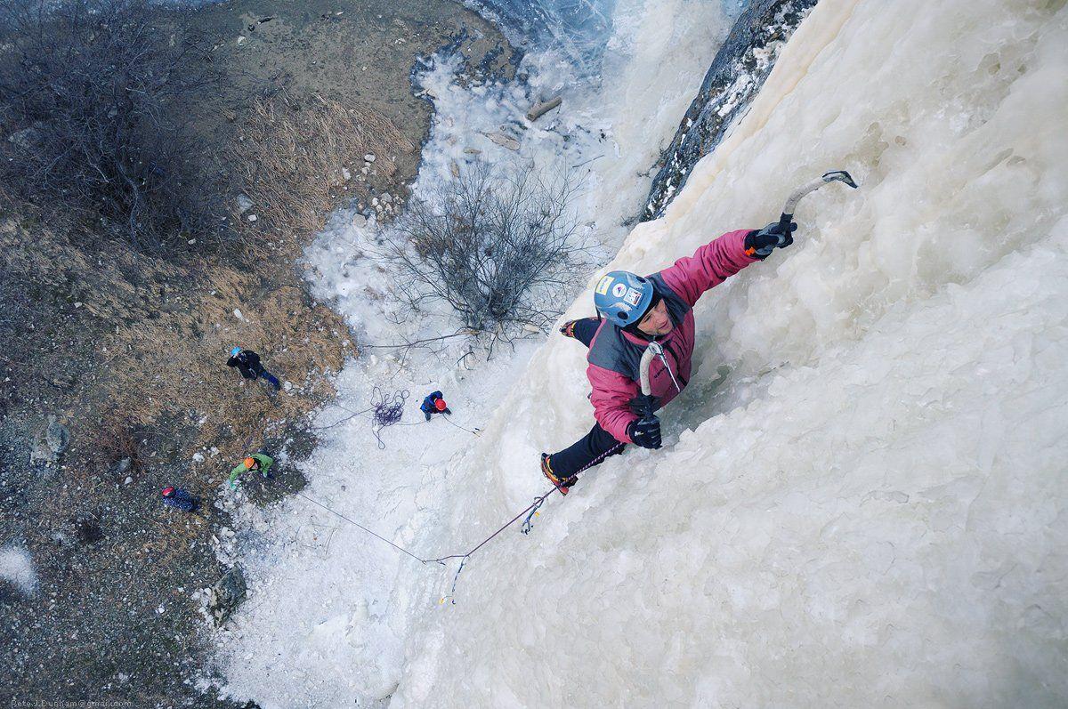 ледолазание, лёд, сосульки, ледолаз, petzl nomic, отличная, погода, красный лис, приморье, приморский край, находка, екатериновка, Pete.J.Dunham