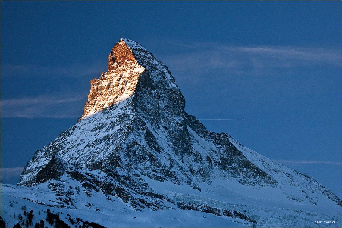 горы, альпы, церматт, самолет, маттерхорн, 4478м, Иван Жданов