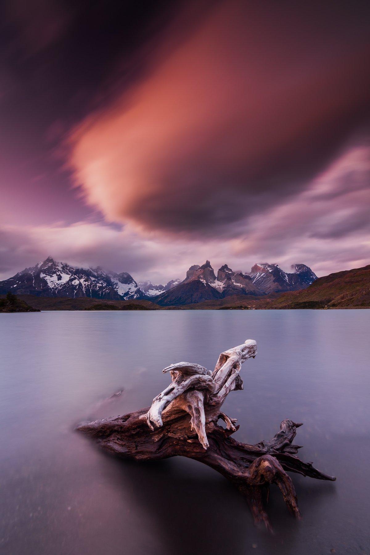 патагония, горы, рассвет, торес дель пайне, Антон Петрусь