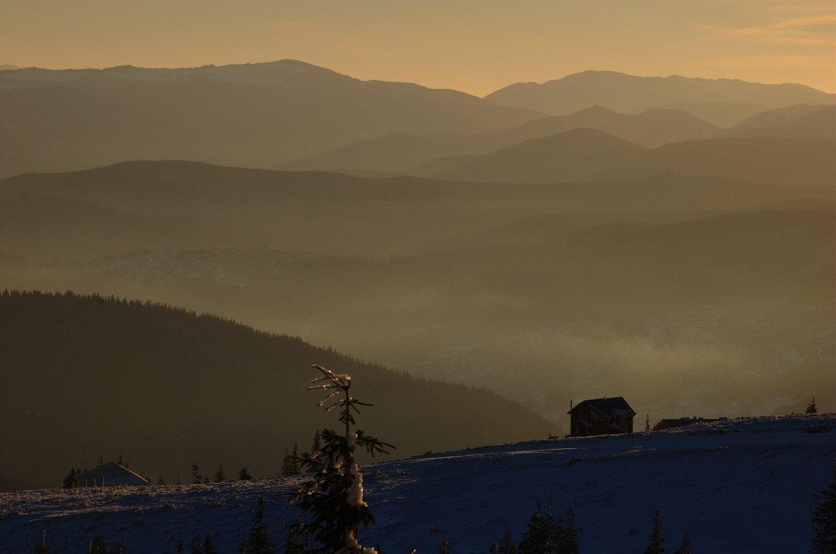 горы, утро, зима, мороз, Евгений Смердов