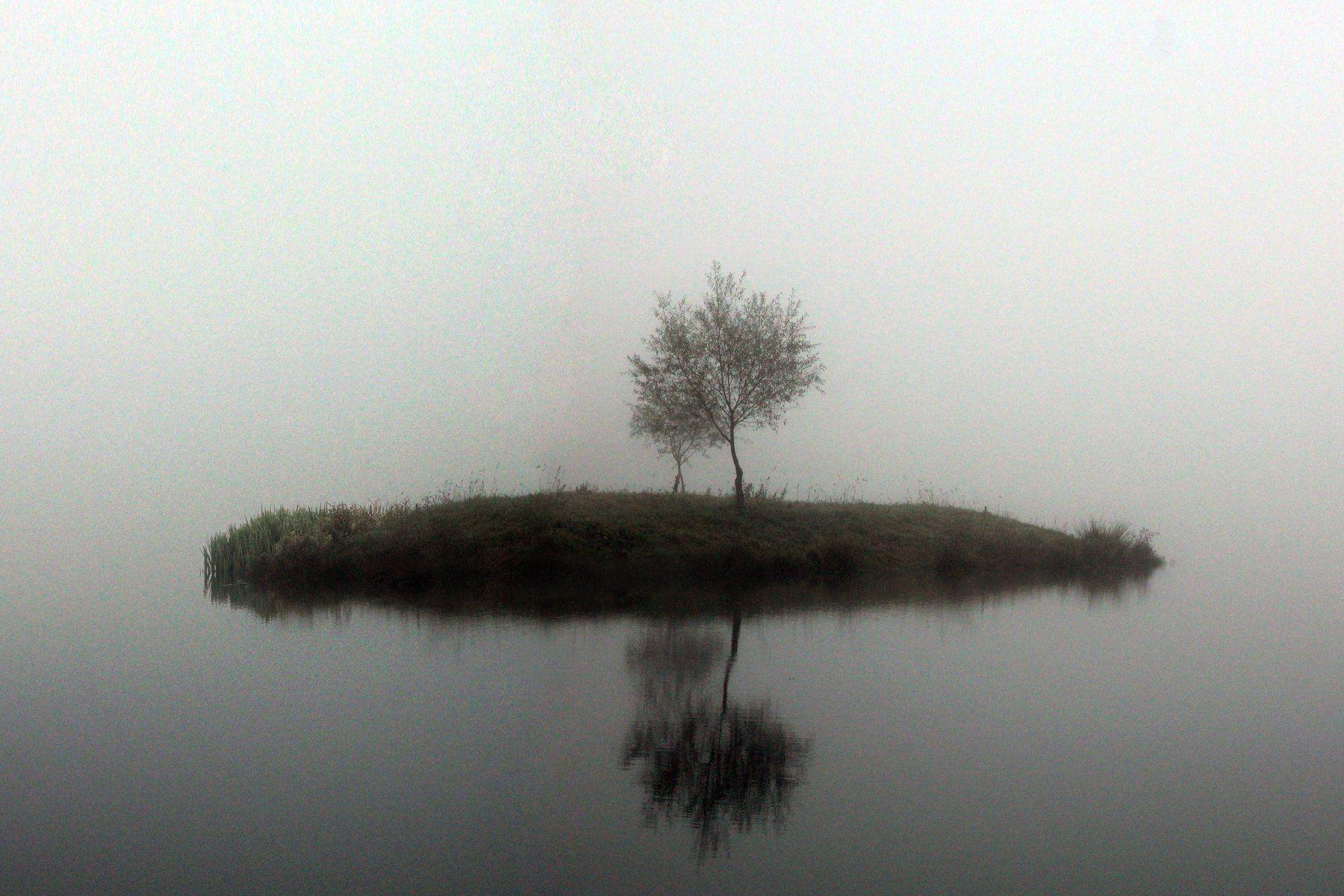 озеро осень дерево, Иванчиков Дмитрий