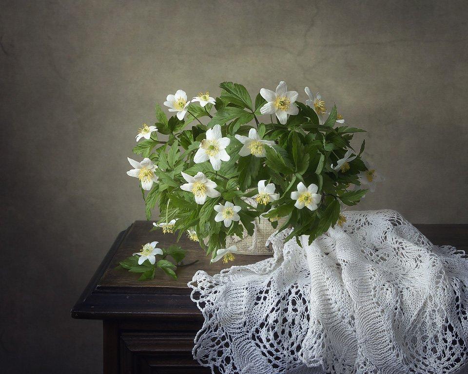 натюрморт, весна, цветы, анемоны, ветреница дубравная, букет, Ирина Приходько