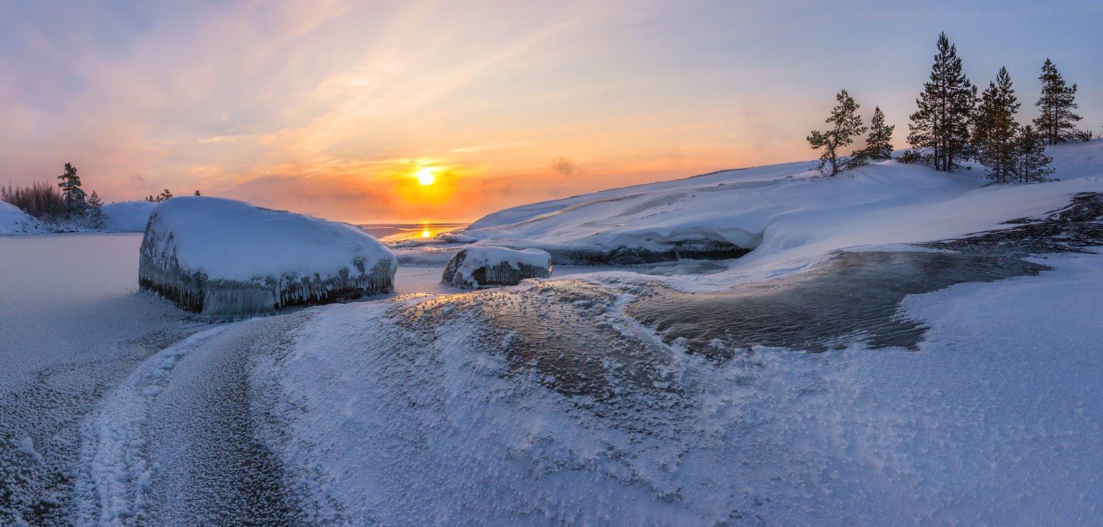 ладога, ладожское озеро, ладожские шхеры, карелия, зима, снег, лёд, мороз, остров, фототур, Арсений Кашкаров