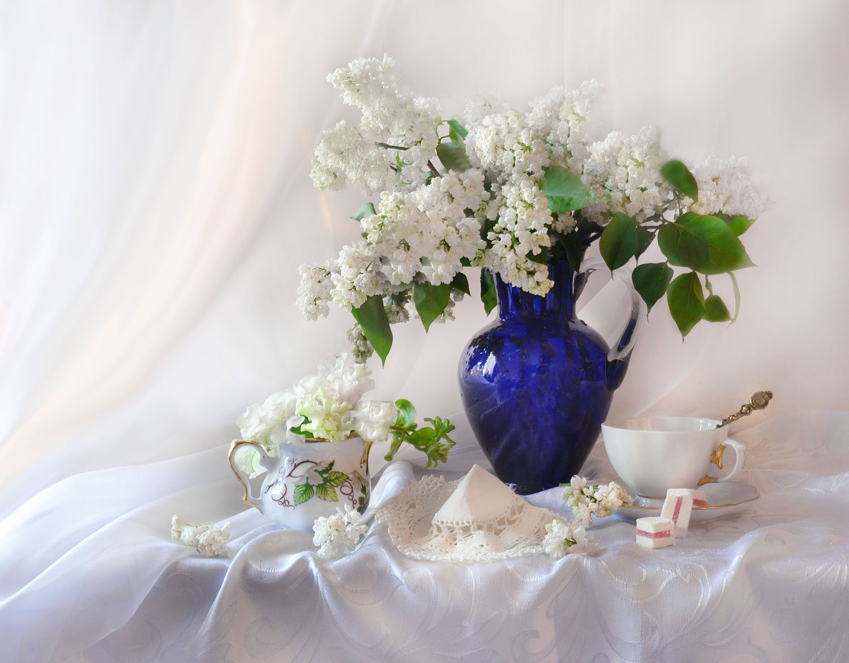 still life, натюрморт, весна, настроение, сирень, стекло, фарфор, фото натюрморт, цветы, Колова Валентина
