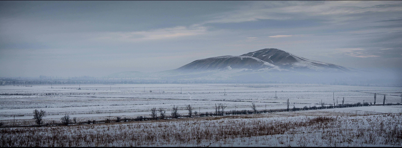 горы, зима, туман, природа, пейзаж, Василий