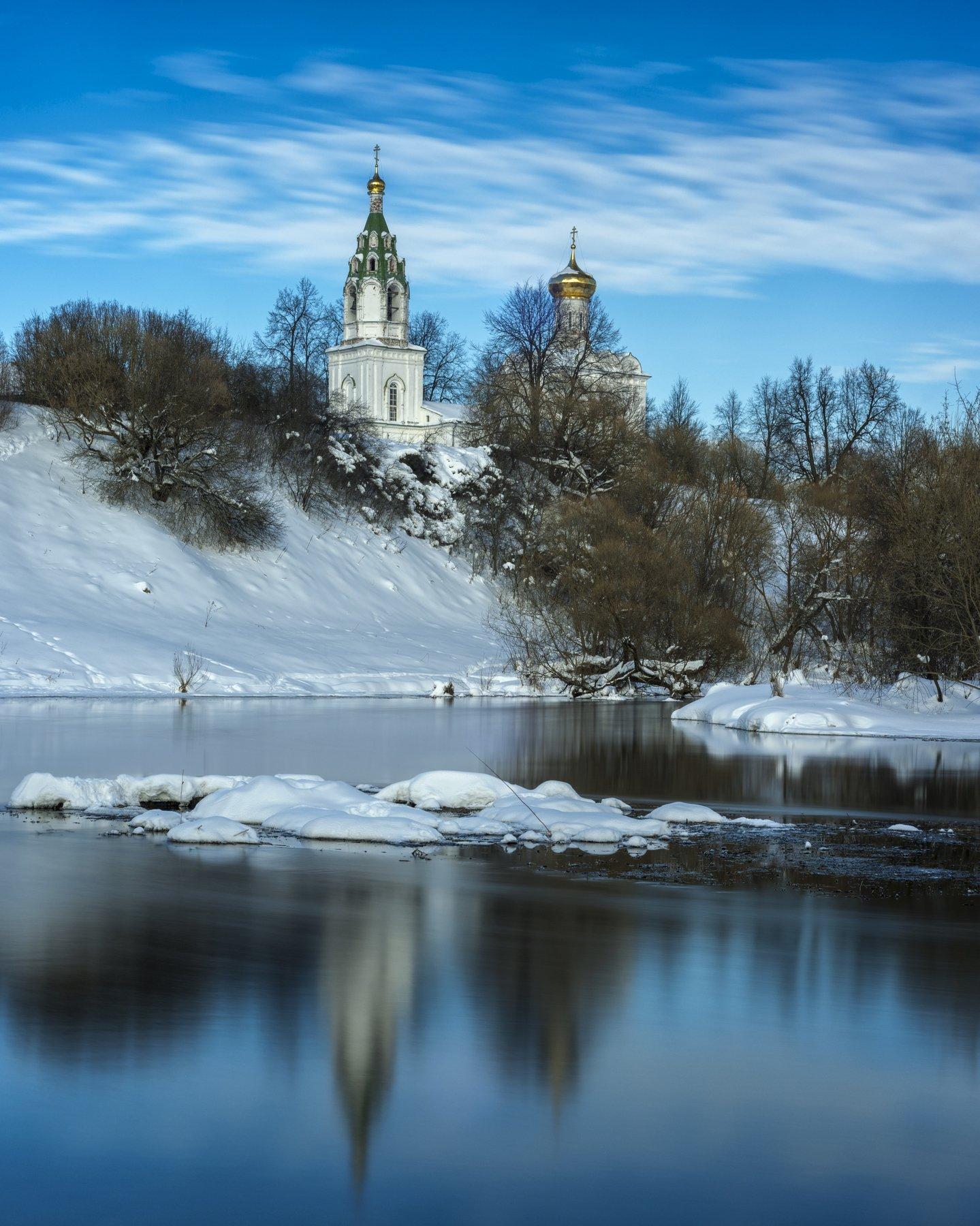 пейзаж, россия, подмосковье, природа, путешествие, небо, церквушки, вера, река, зима, Павел Ныриков